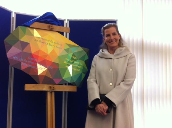 Sophie opens Southhapton General Cardiac Unit