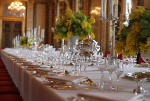 table setting at official dinner