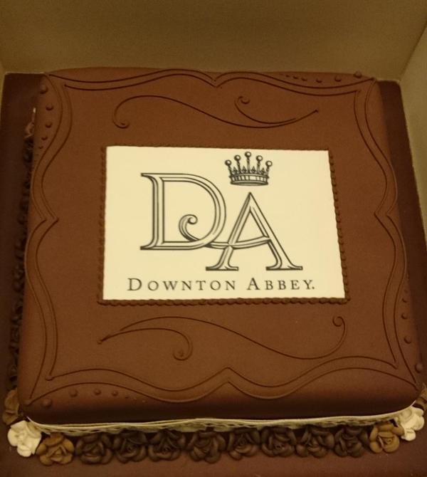 Cake from Kate's Downton Abbey visit