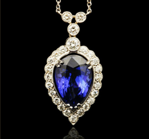 G.Collins & Sons Tanzanite & Diamond Pendant