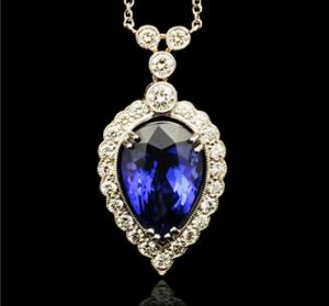 G.Collins & Sons Tanzanite & Diamond Pendant