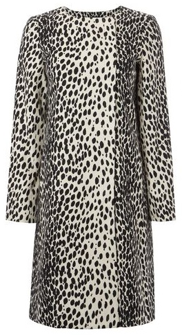 Hobbs Dalmation Print Mac coat