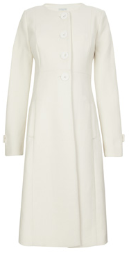 Jojo Maman Bebe Cream Princess Line Maternity Coat