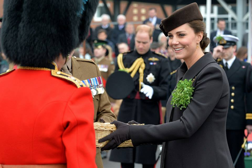 Kate hands out shamrocks