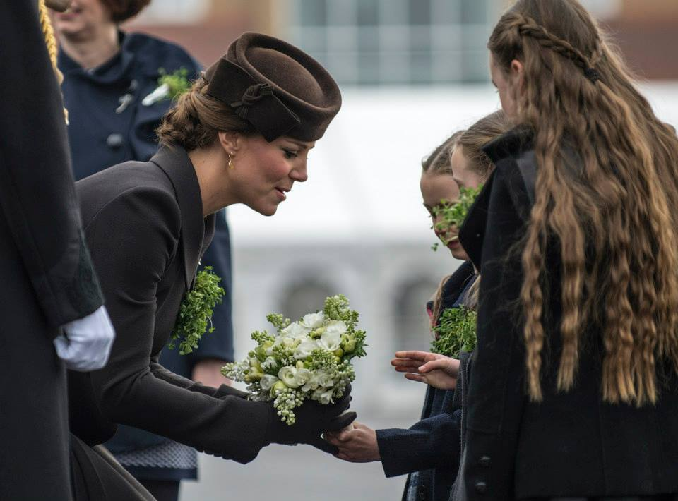 Kate receives flowers