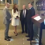 Kate touring Downton Abbey set 2