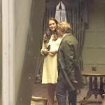 Kate touring Downton Abbey set 3