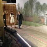 Kate touring Downton Abbey set 4