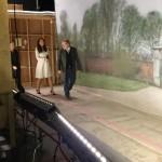 Kate touring Downton Abbey set 4