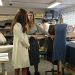Kate touring the costume department at Downton Abbey 1