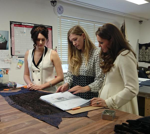 Kate touring the costume department at Downton Abbey 2