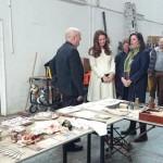 Kate tours props department 1