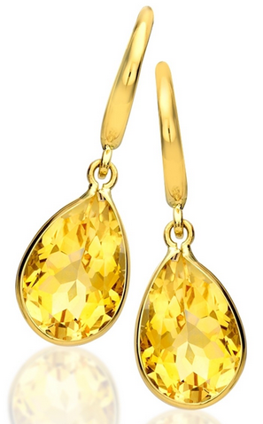 Kiki McDonough Citrine Pear Drop Earrings