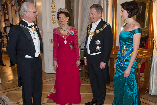 King Carl XVI Gustaf and Queen Silvia state dinner in Finland