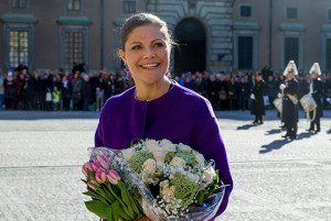 Victoria received flowers on Crown Princess Name Day