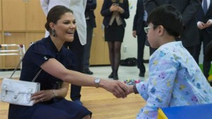 Victoria visits disability center 1