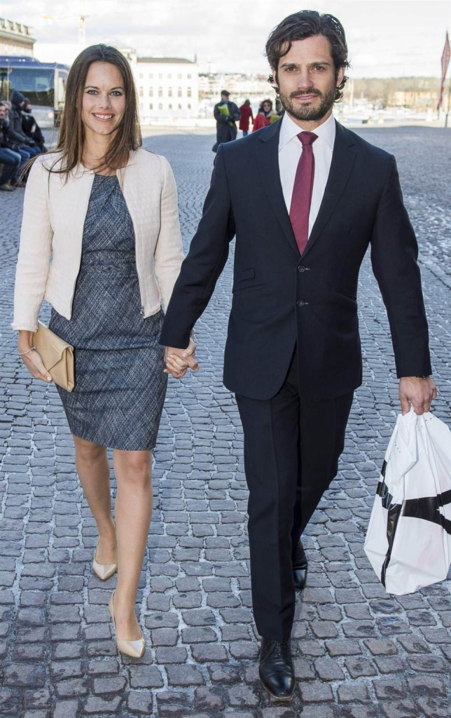Prince Carl Philip and Sofia Hellqvist at christening