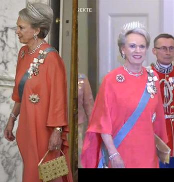 Princess Benedikte arrives at 75th birthday gala