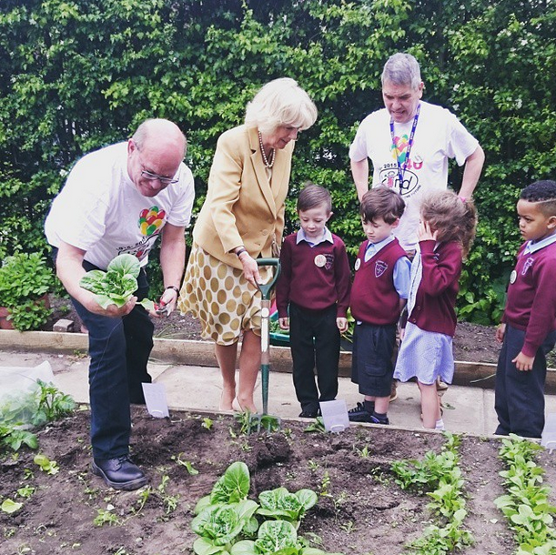 Camilla at Kind Charity garden