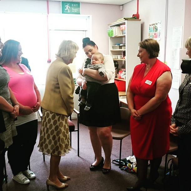 Camilla visits Bump Start