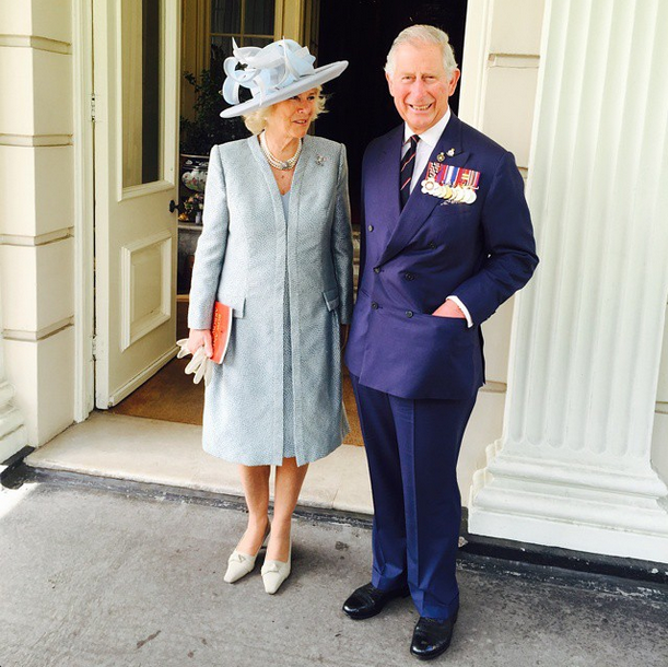 Charles and Camilla on VE Day