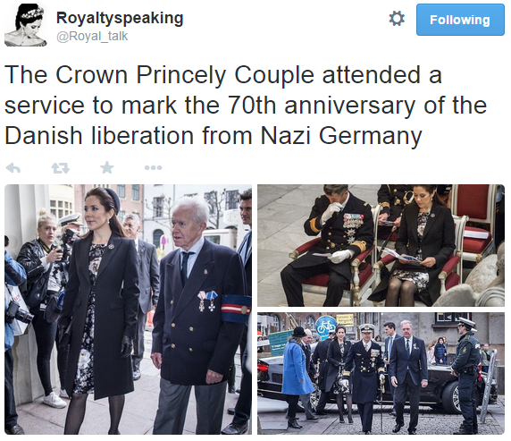 Crown Princess Mary attends 70th anniversary of Danish liberation