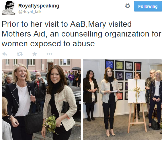 Crown Princess Mary visits Mothers Aid