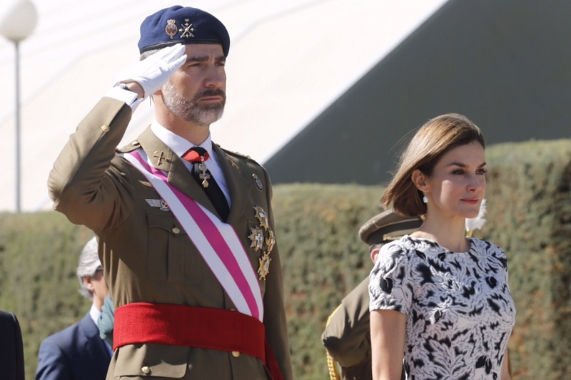 Felipe and Letizia new royal guards ceremony