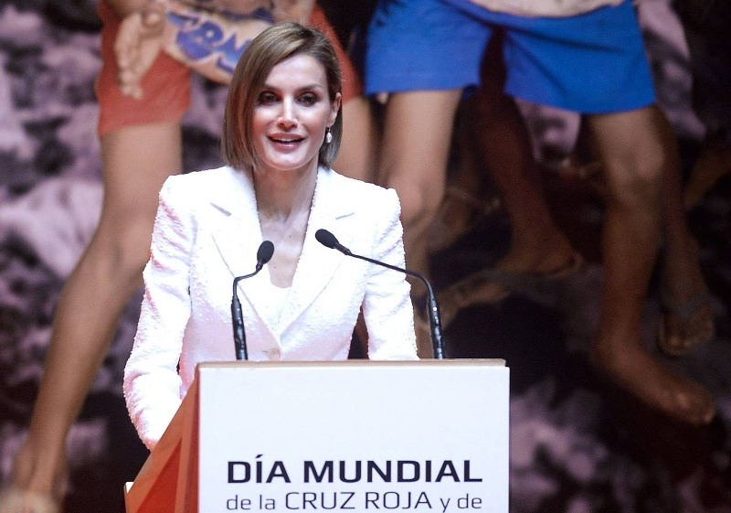 Letizia gives speech at red cross world day