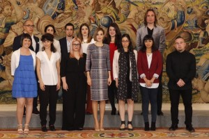 Letizia with students