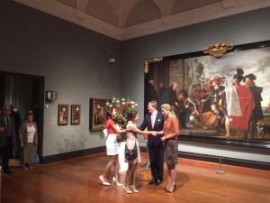 Maxima and Willem-Alexander at Dutch community reception