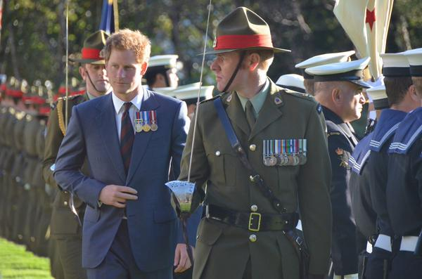 Prince Harry arrives at Government House
