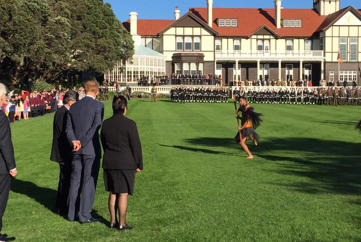 Prince Harry gets traditional welcome at Government House