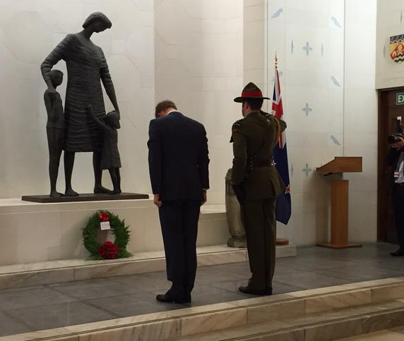 Prince Harry lays wreath at Hall of Memories