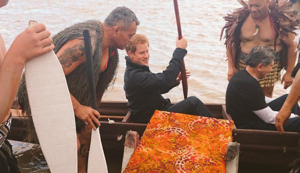 Prince Harry row with the crew of the waka1
