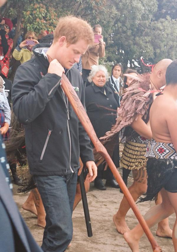 Prince Harry row with the crew of the waka2