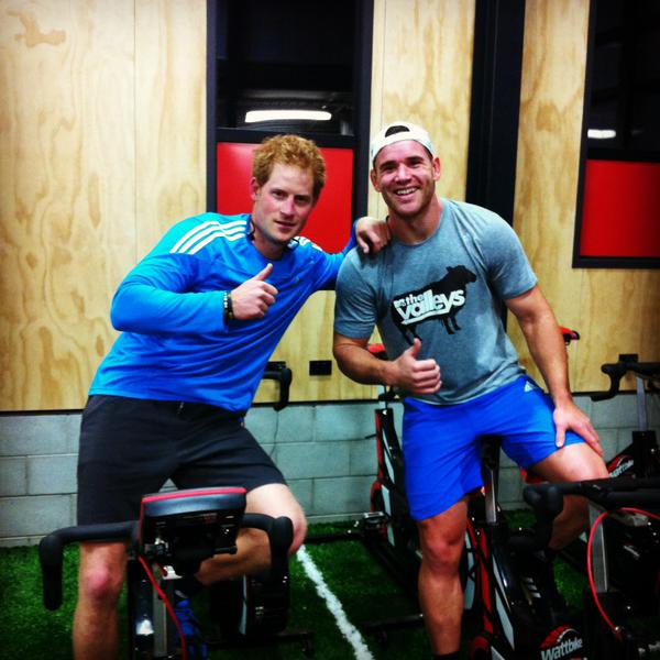 Prince Harry working out