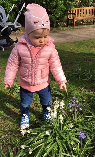 Princess Leonore in the garden