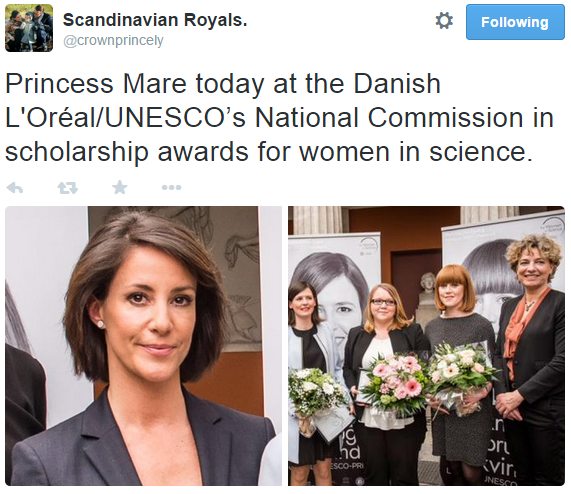 Princess Mary women in science scholarship awards