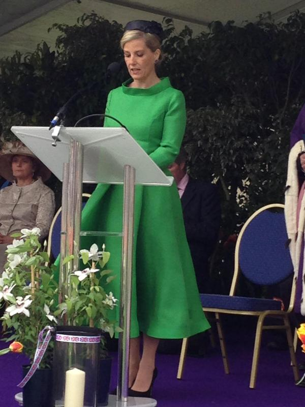 Sophie gives speech in Guernsey