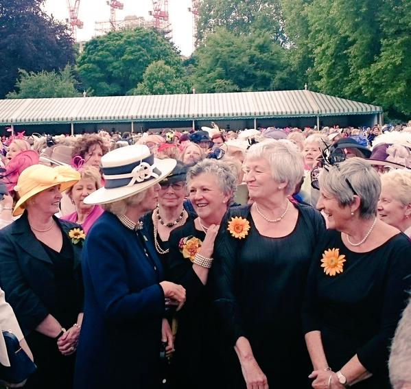 Camilla meets WI girls at garden party