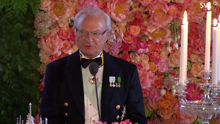 Carl Gustaf gives speech