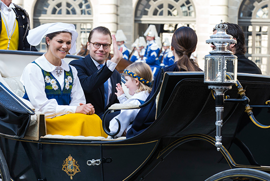 Carriage procession during Sweden National Day 2015