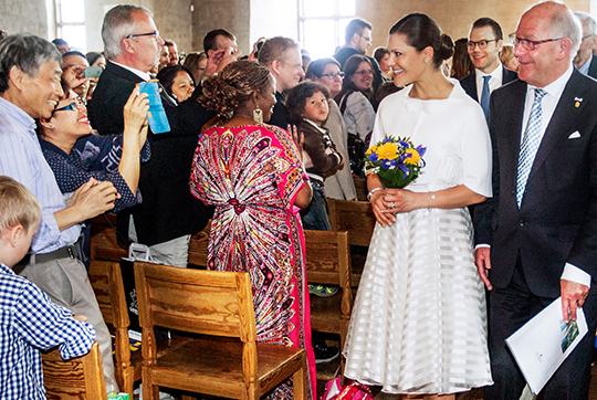 Crown Princess Victoria and Prince Daniel celebrating National Day in Uppsala