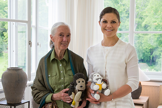 Crown Princess Victoria meets Jane Goodall