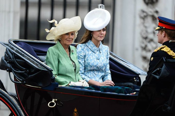 Kate Middleton and Camilla at Trooping