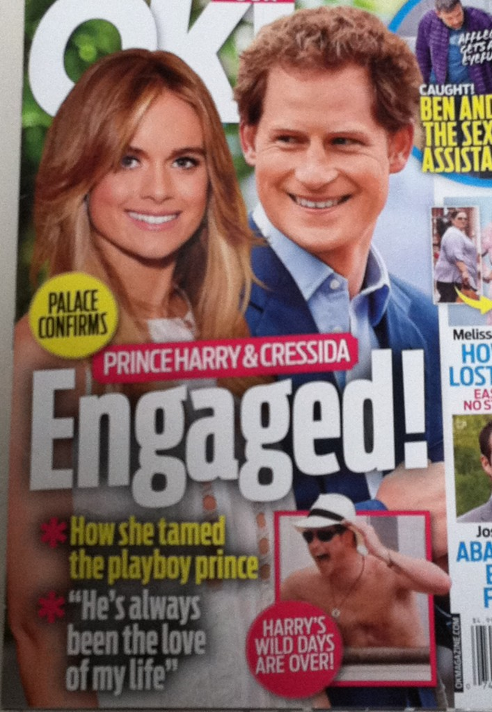 OK Prince Harry and Cressida Bonus engaged