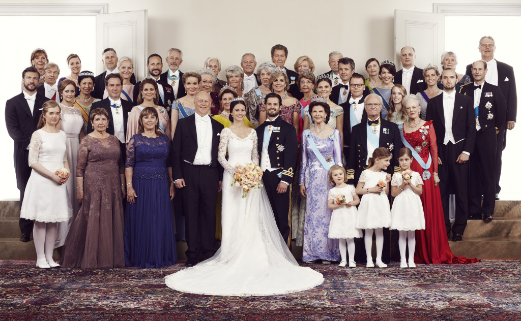 Prince Carl Philip and Princess Sofia with the foreign royals