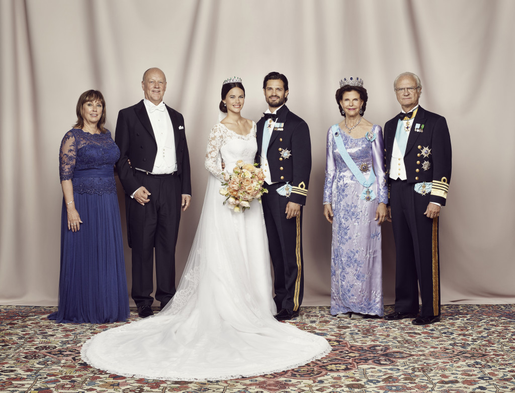 Prince Carl Philip and Princess Sofia with the parents
