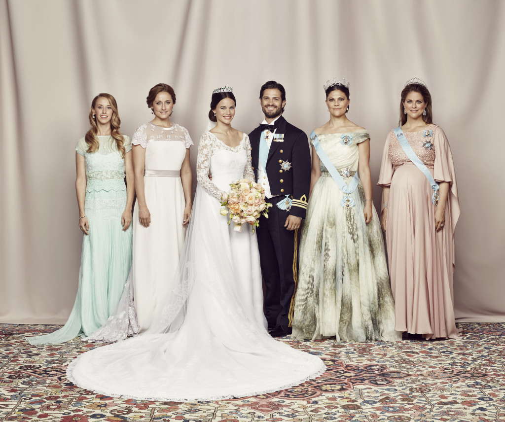 Prince Carl Philip and Princess Sofia with the sisters